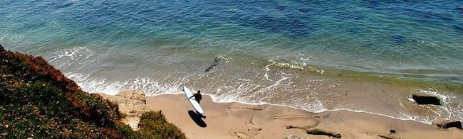 East Cliff Santa Cruz surfer