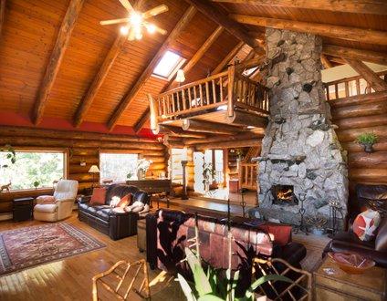 Hidden Log Home