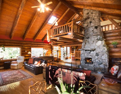 Hidden Log Home